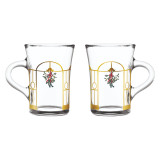Pair of Hot Drinks Glass
